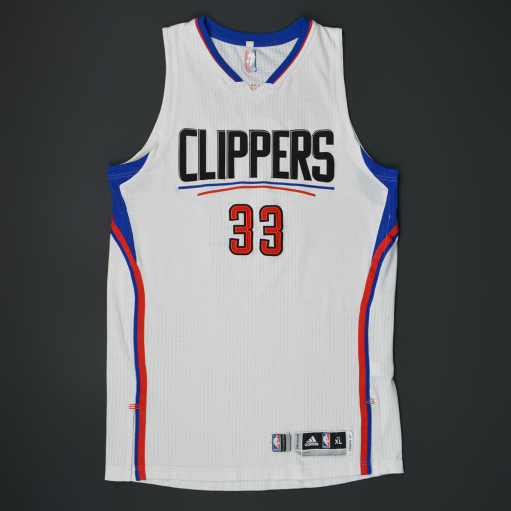 f211b9638715 Wesley Johnson - Los Angeles Clippers - Game-Worn Jersey - 2015-16 Playoffs