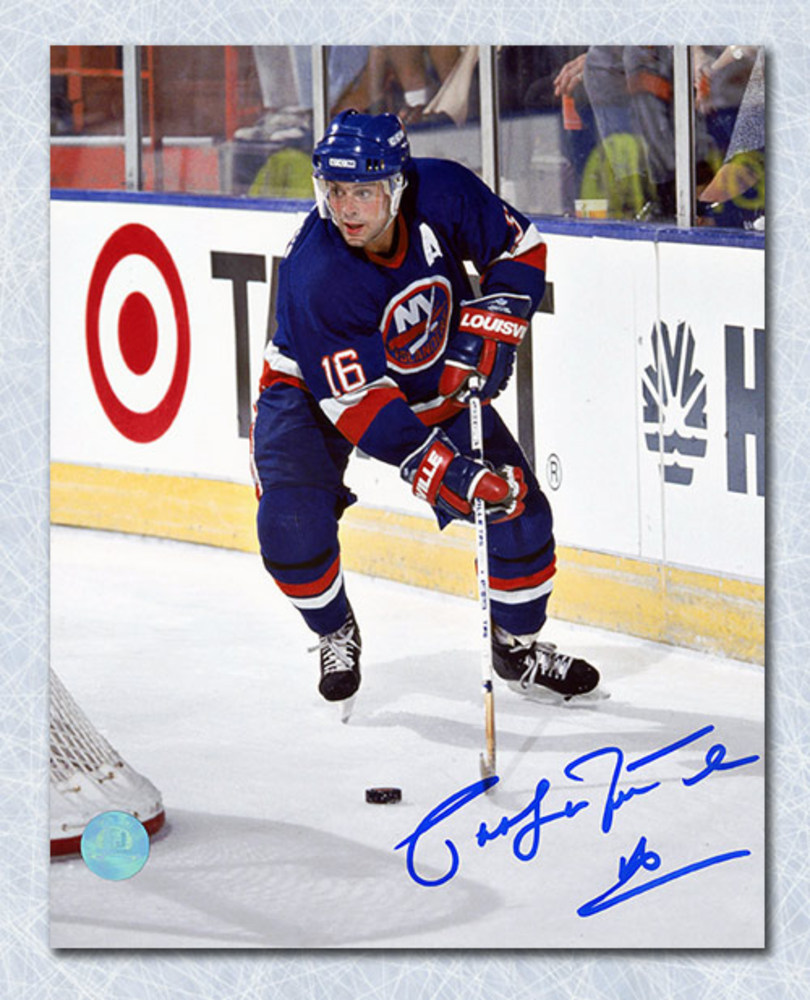 Pat LaFontaine New York Islanders Autographed Action 8x10 Photo