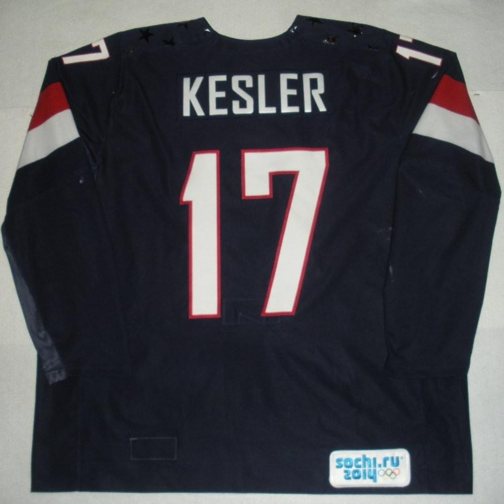 Ryan Kesler - Sochi 2014 - Winter Olympic Games - Team USA Blue Game-Worn Jersey - Bronze Medal Game vs. Finland, 2/22/14