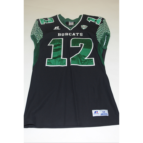 Photo of # 12 - Official OHIO BOBCATS Game Worn Football Jersey (2011) - SIZE MEDIUM