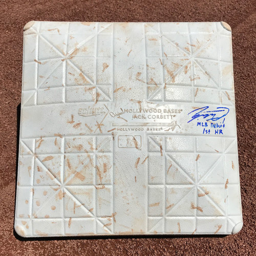 San Francisco Giants - Game-Used and Autographed 3rd Base - Jae-Gyun Hwang - MLB debut and 1st and only Homerun