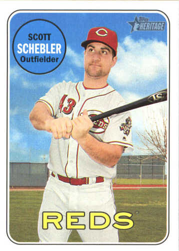 Photo of 2018 Topps Heritage #131 Scott Schebler
