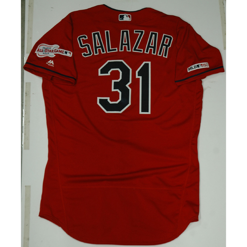 Photo of Danny Salazar 2019 Team Issued Alternate Home Jersey