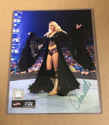 Photo of Charlotte Flair SIGNED  WrestleMania 36 Exclusive photo. (Random Number)