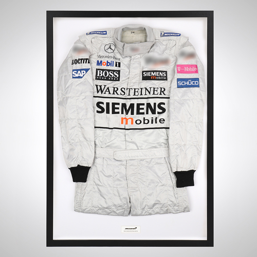 Photo of David Coulthard 2002 Framed Race-worn Suit - McLaren