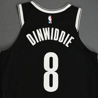 Spencer Dinwiddie - Brooklyn Nets - NBA China Games - Game-Worn Icon Edition Jersey - 2019-20 NBA Season