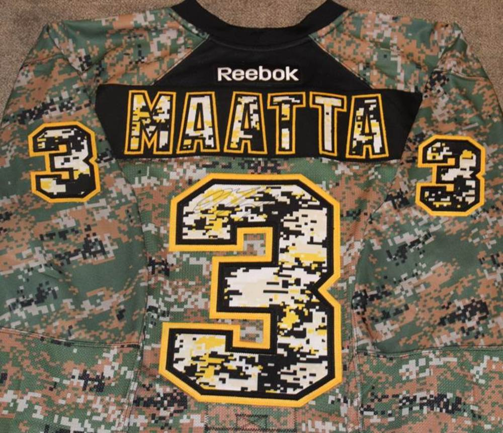 Camouflage Pittsburgh Penguins Jersey Signed by Olli Maatta - NHL ... 23b8dfe10