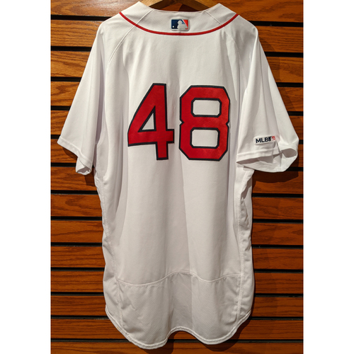 Photo of Andrew Cashner #48 Game Used Home White Jersey