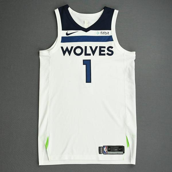 Image of Tyus Jones - Minnesota Timberwolves - NBA China Games - Game-Worn Association Edition Jersey - 2017-18 NBA Preseason