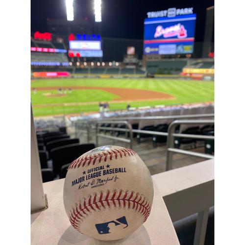 Photo of 2020 Silver Slugger: Ronald Acuna Jr. Game Used Home Run Baseball - 9/5/20
