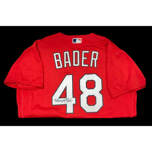 Photo of Harrison Bader Autographed Team Issued Batting Practice Jersey (Size 46)