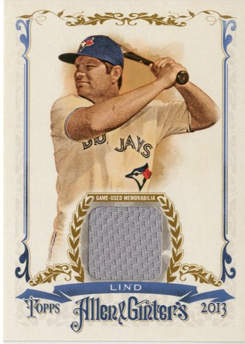 Photo of 2013 Topps Allen and Ginter Relics #AL Adam Lind