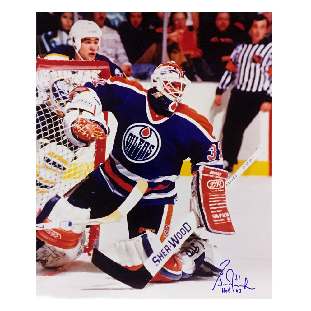 GRANT FUHR Signed Edmonton Oilers 16 X 20 Photo W/HOF Inscription- 79067