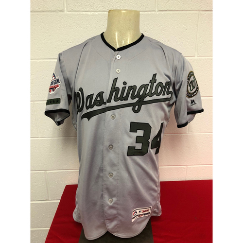buy online 6f5ca a2f54 MLB Auctions | Game-Used Road Memorial Day Jersey: Bryce Harper