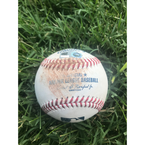 Cardinals Authentics: Game-Used Baseball Pitched by Jordan Hicks to Jason Heyward *strike out 102.2 MPH*