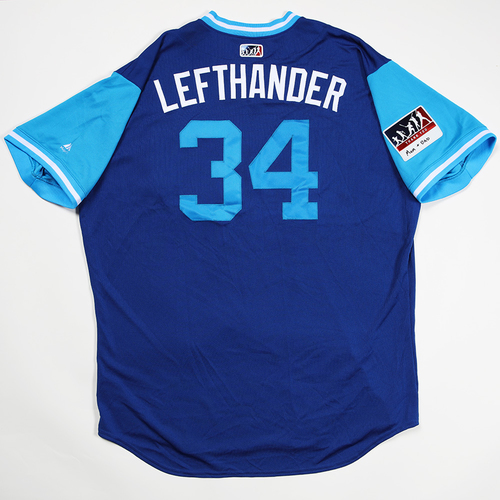 "Photo of Jon ""Lefthander"" Lester Chicago Cubs Game-Used 2018 Players' Weekend Jersey"