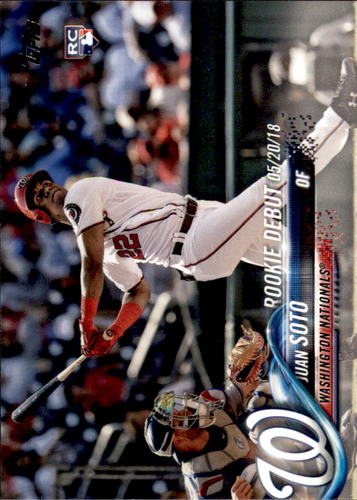 Photo of 2018 Topps Update #US104 Juan Soto Rookie Debut