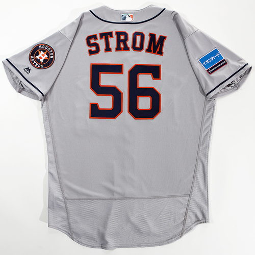 Photo of 2018 Japan Series Game-Used Jersey - Brent Strom - Size 48