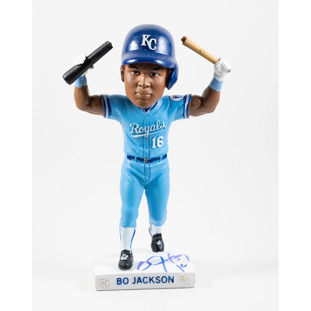 Royals Charities Autographed Bo Jackson Bat Break Bobblehead | MLB ...