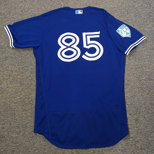 Photo of Authenticated Team Issued 2019 Spring Training Jersey - #85 Logan Warmoth. Size 46