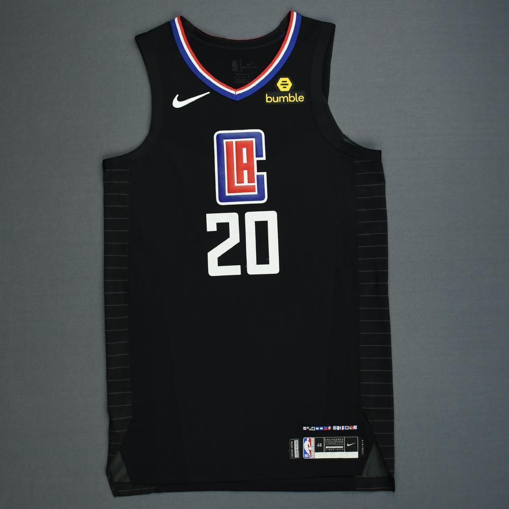 Landry Shamet - Los Angeles Clippers - 2019 NBA Playoffs - Game-Worn Black Statement Edition Jersey