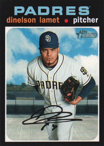 Photo of 2020 Topps Heritage #176 Dinelson Lamet