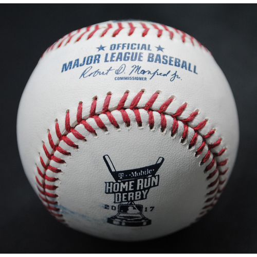 Photo of 2017 Home Run Derby (07/10/2017) - Game-Used Baseball - Mike Moustakas (Kansas City Royals) - Round 1, Out