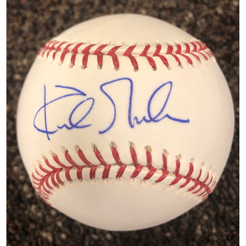 Photo of Kirk Gibson Autographed 1988 World Series Baseball