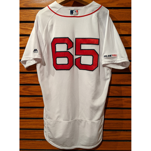 Travis Lakins #65 Game Used Home White Jersey