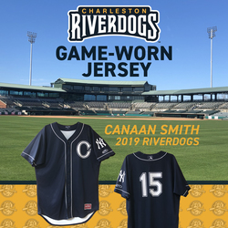 Photo of Charleston RiverDogs Game-Worn Jersey: Canaan Smith