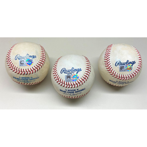 Photo of Detroit Tigers Game-Used Baseball K Collection: Michael Fulmer Strikeout, Jose Ureña Strikeout, and Gregory Soto Strikeout (MLB AUTHENTICATED)