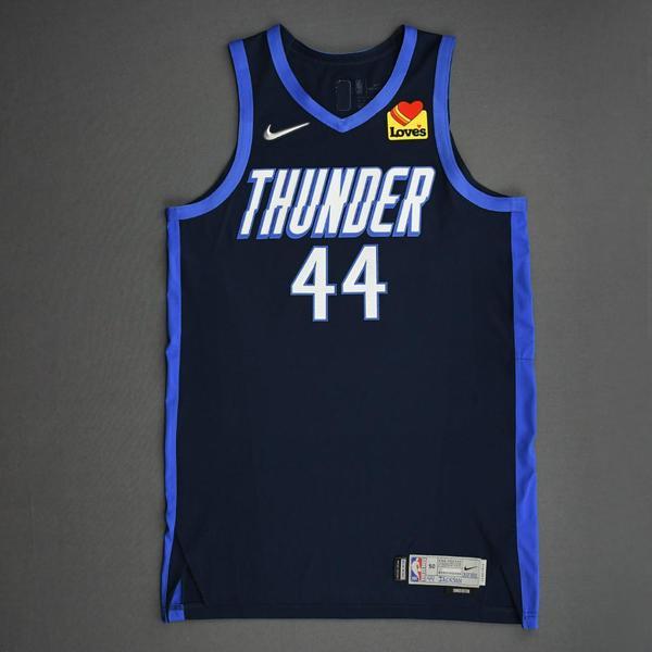 Image of Justin Jackson - Oklahoma City Thunder - Game-Worn Earned Edition Jersey - Dressed, Did Not Play (DNP) - 2020-21 NBA Season