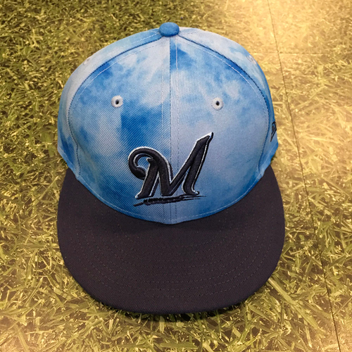 Photo of Orlando Arcia 06/19/19 Game-Used Father's Day Cap
