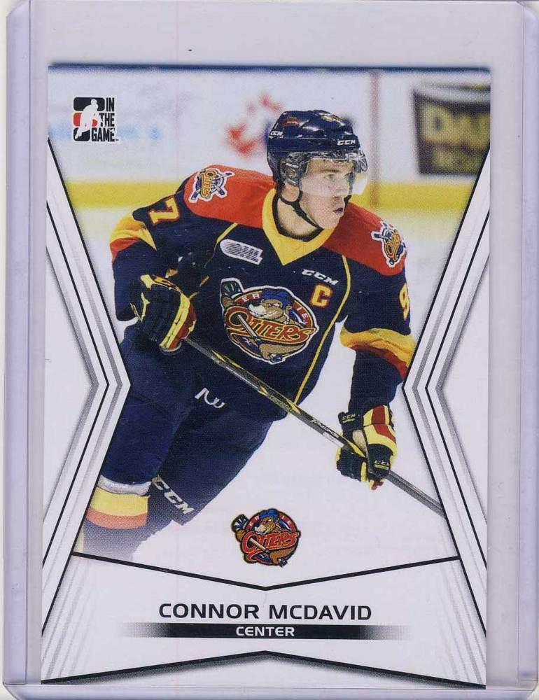 factory authentic 9b3c7 86e8d 2014-15 LEAF ITG #01 Connor McDavid Erie Otters Pre-Rookie ...