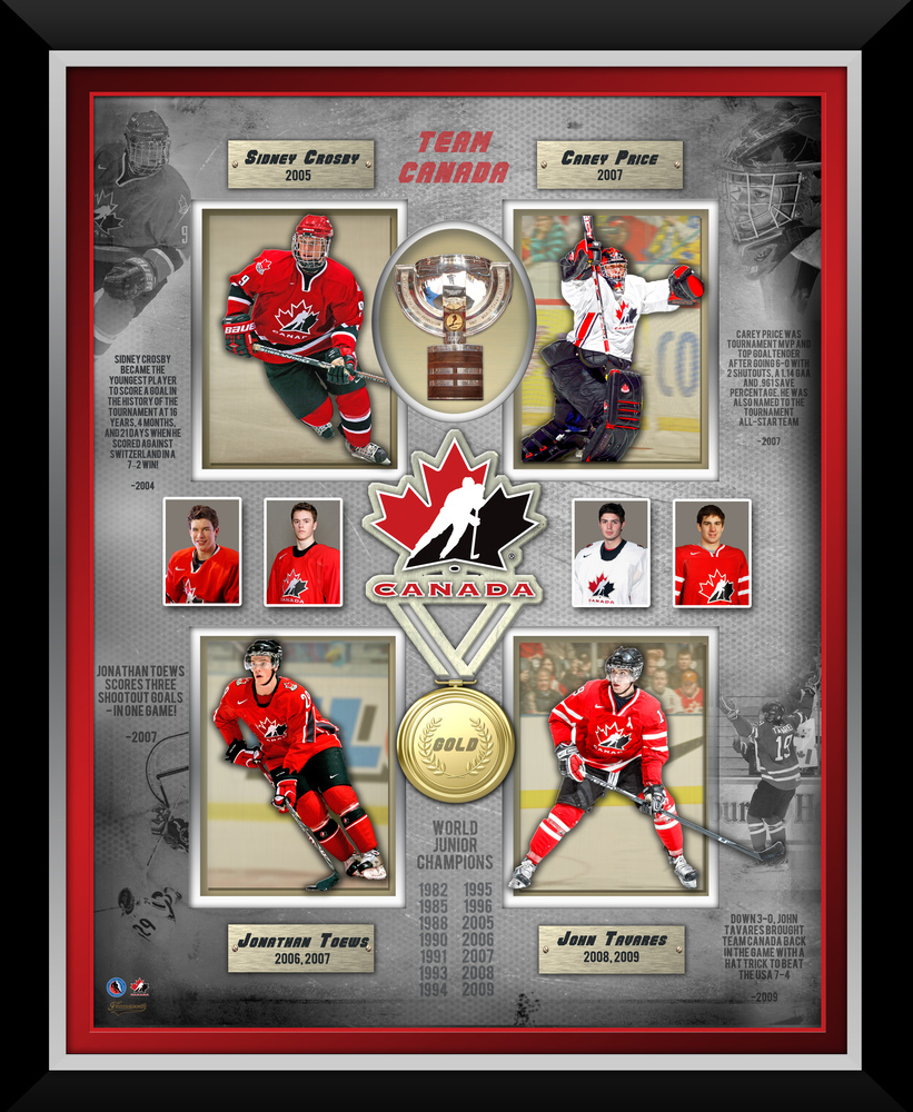 World Juniors Framed Four Player Collage