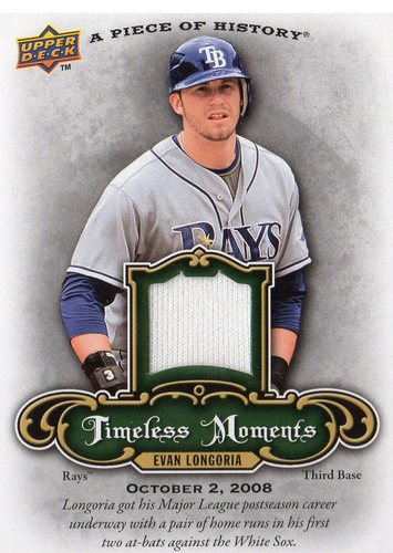 Photo of 2009 UD A Piece of History Timeless Moments Jersey #TMEL Evan Longoria