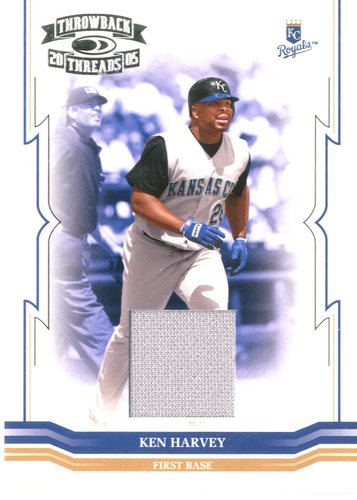 Photo of 2005 Throwback Threads Material Jersey #178 Ken Harvey/150