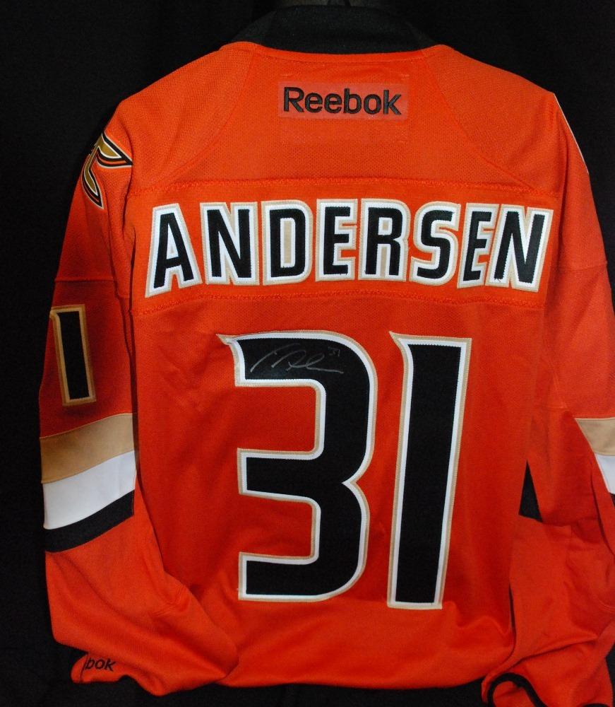 the latest 2aea8 55c56 31 Frederik Andersen Anaheim Ducks 2014 Coors Light NHL ...