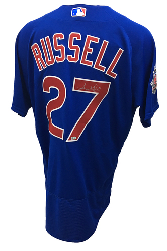 Addison Russell Autographed Jersey: Size - 48