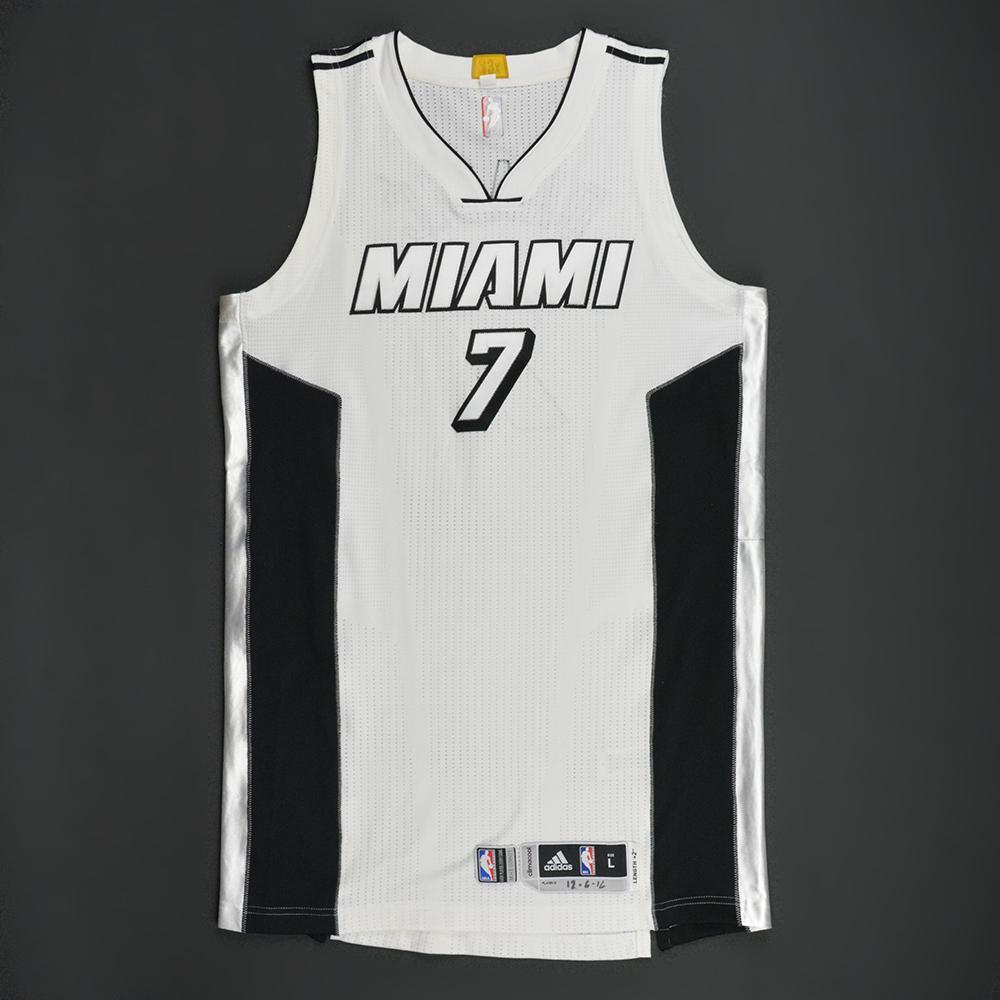 the latest 37ecd 01c21 Goran Dragic - Miami Heat - White Alternate Game-Worn Jersey ...