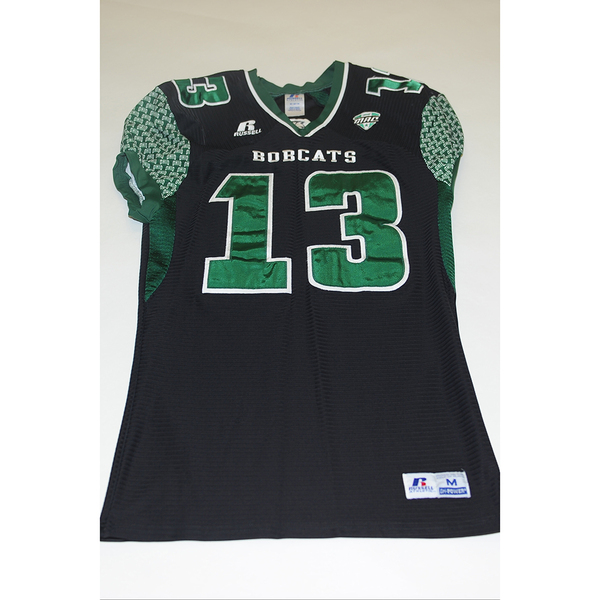 Photo of # 13 - Official OHIO BOBCATS Game Worn Football Jersey (2011) - SIZE MEDIUM