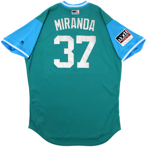 "Photo of Ariel ""Miranda"" Miranda Seattle Mariners Game-Used Players Weekend Jersey"
