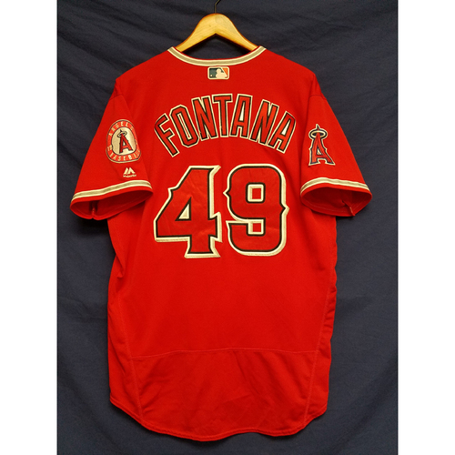 Nolan Fontana Game-Used Alternate Red Jersey