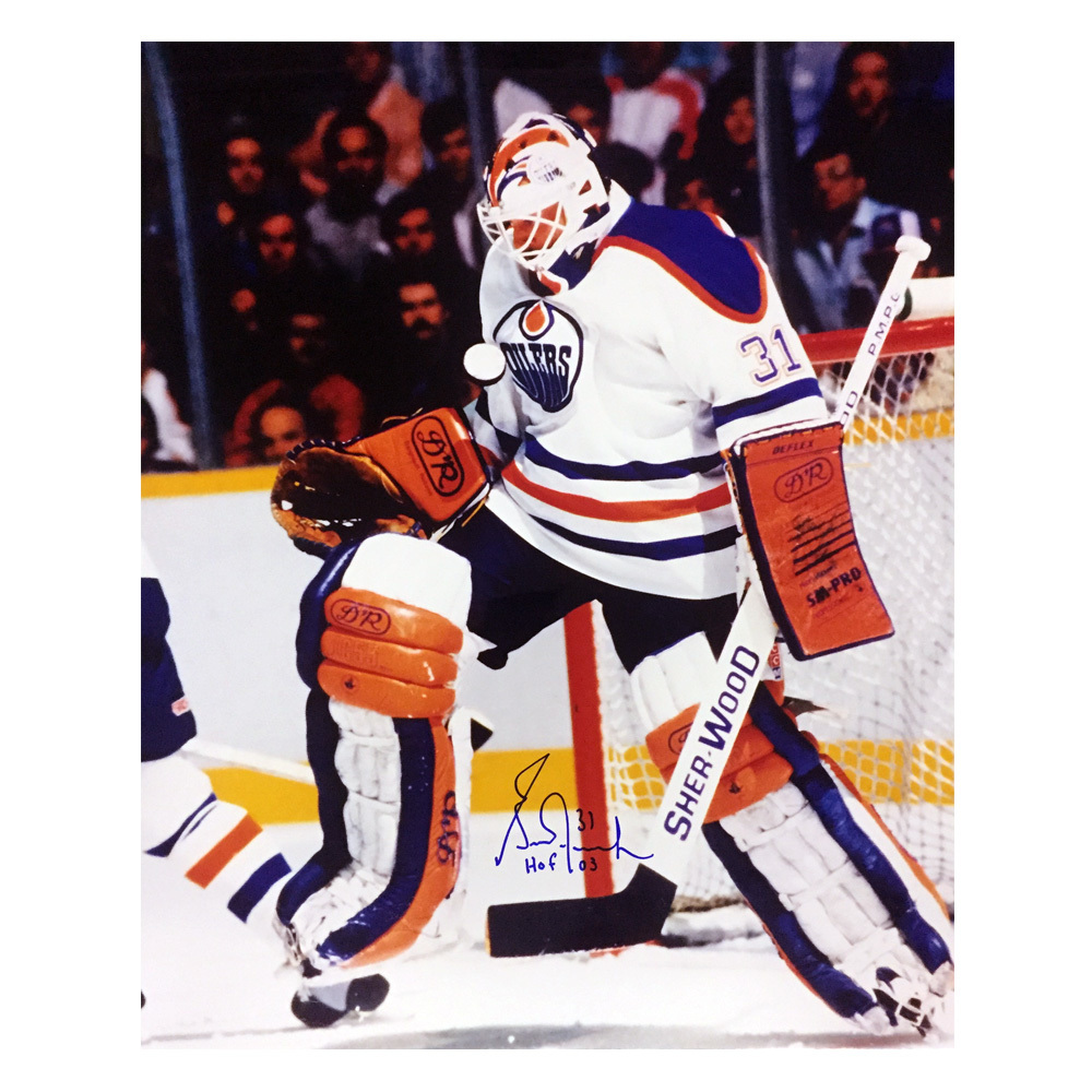 GRANT FUHR Signed Edmonton Oilers 16 X 20 Photo W/HOF Inscription- 79068