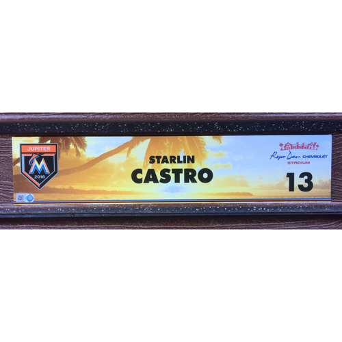 Photo of Starling Castro Game-Used Spring Training Locker Tag