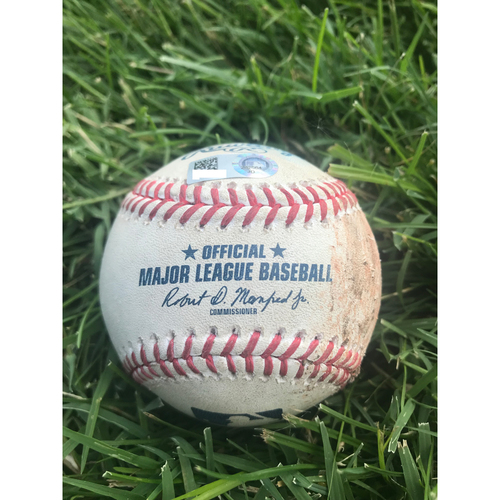 Photo of Cardinals Authentics: Game-Used Baseball Pitched by Bud Norris to Ben Zobrist and Kyle Schwarber *Strike out, Foul*