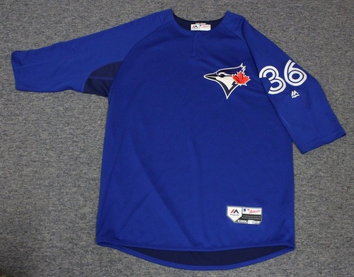 Photo of Authenticated Team Issued Batting Practice Jersey - #36 Tyler Clippard. Size L.