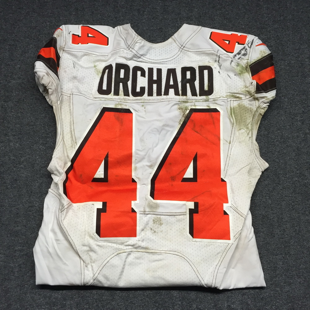 best service a643a 6a853 NFL Auction | London Games - Browns Nate Orchard Game Worn ...