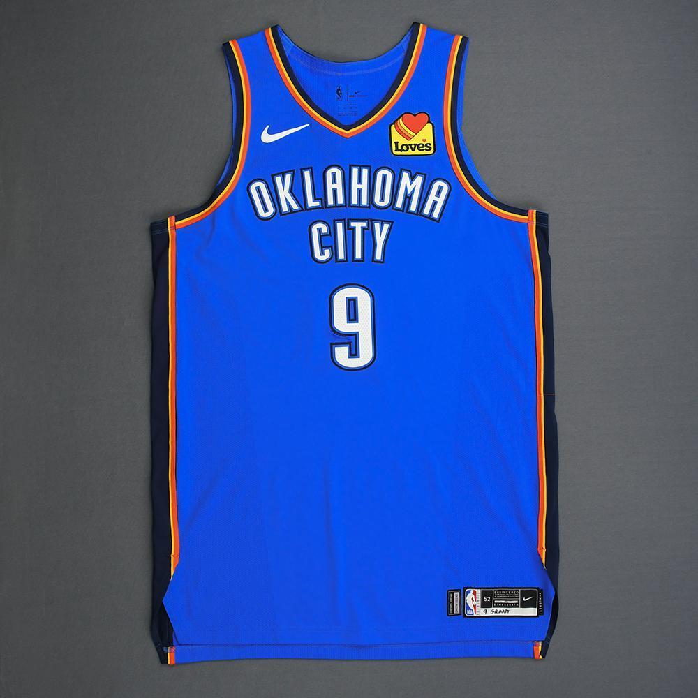 size 40 be5bc 2cb2e Jerami Grant - Oklahoma City Thunder - Game-Worn Icon ...
