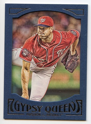 Photo of 2016 Topps Gypsy Queen Framed Blue #53 Jonathan Papelbon